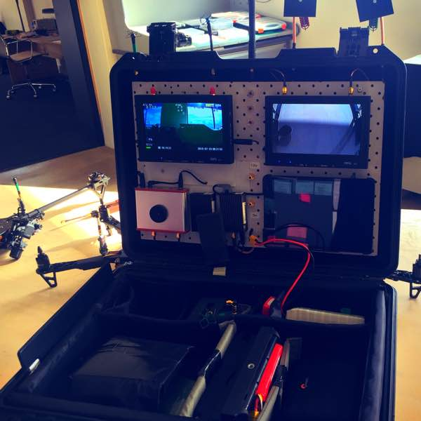 monitors and remote controls for drone operation