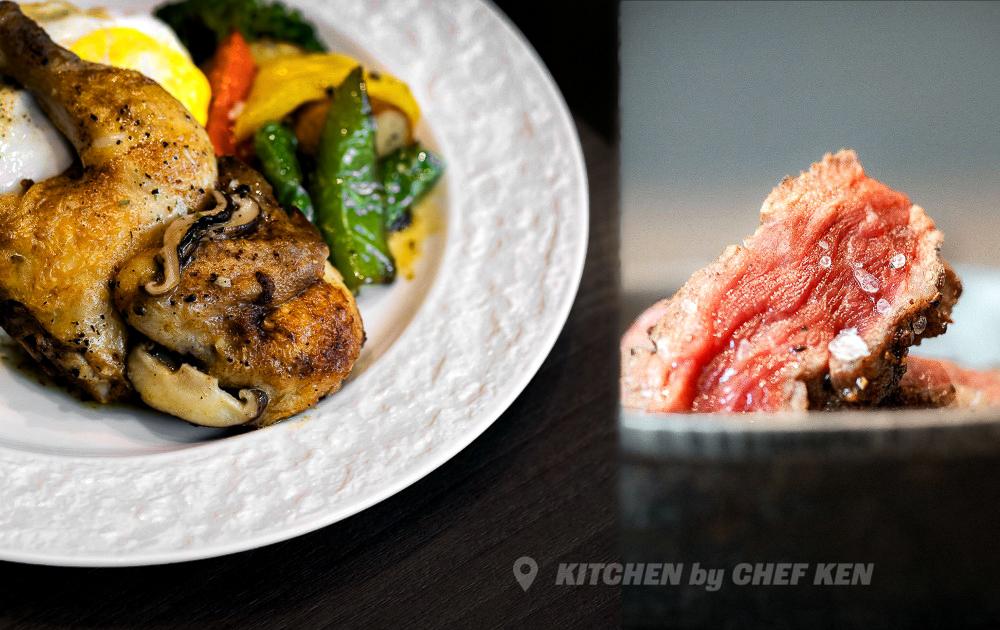 新竹美食。KITCHEN by CHEF KEN|巷弄美食,春雞、牛排吃起來!