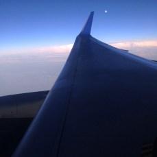 The nearly-full moon