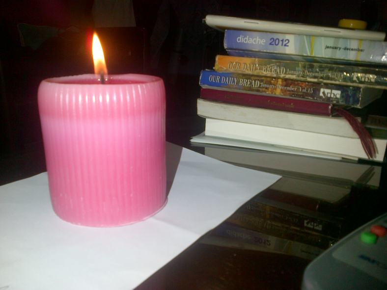 Another anniversary, another pink candle.