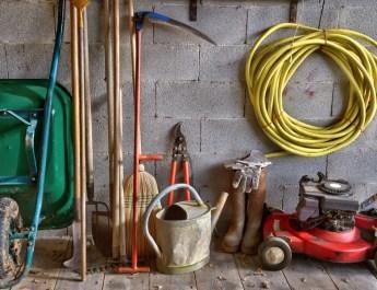 preparing garden equipment