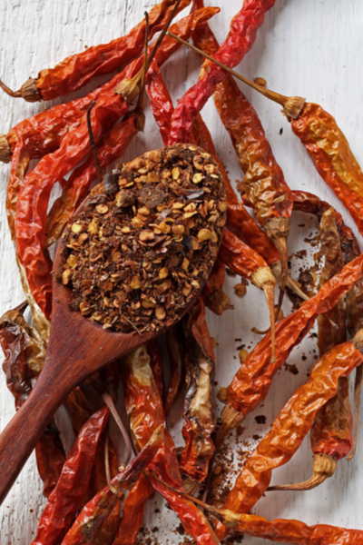 crushed hot peppers