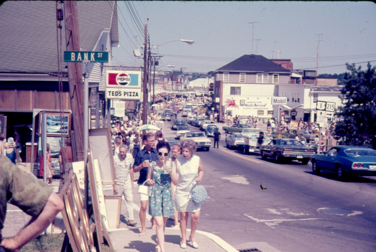 Downtown Mystic - Vintage photo