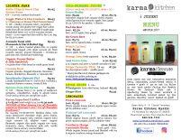 Karma Kitchen Menu Page 2