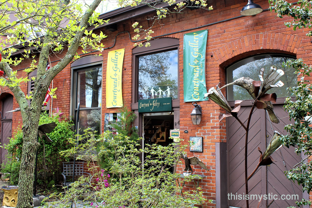 Courtyard Gallery In Downtown Mystic