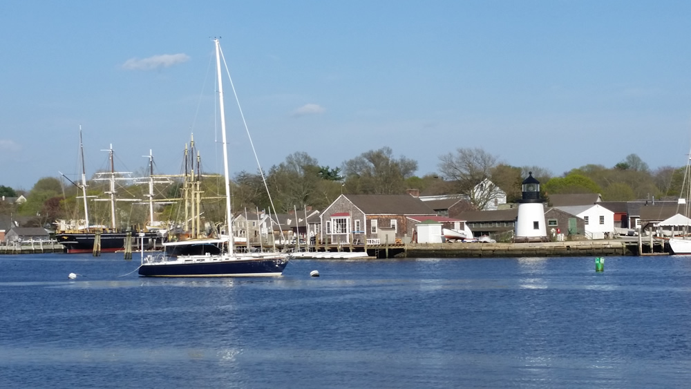 Mystic Seaport across Mystic River