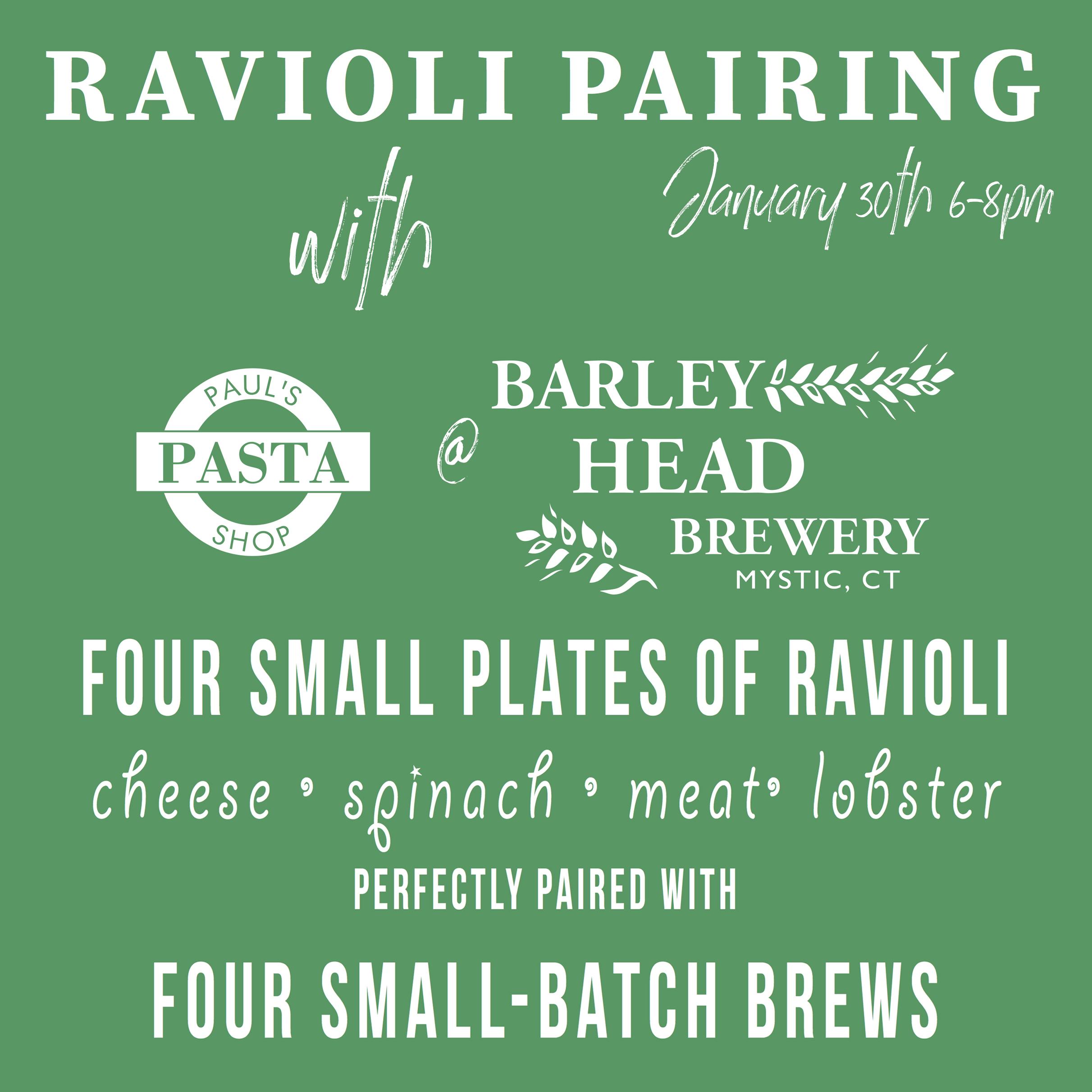 Ravioli Pairing at Barley Head Brewery in Mystic, CT