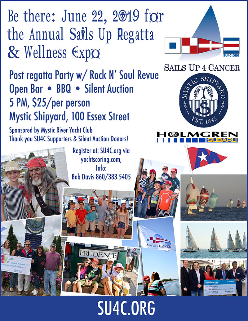 Sails Up 4 Cancer Regatta, Wellness Expo & Party in Mystic, CT