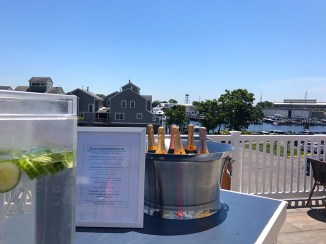 order Charcuterie boards and beverages on the deck