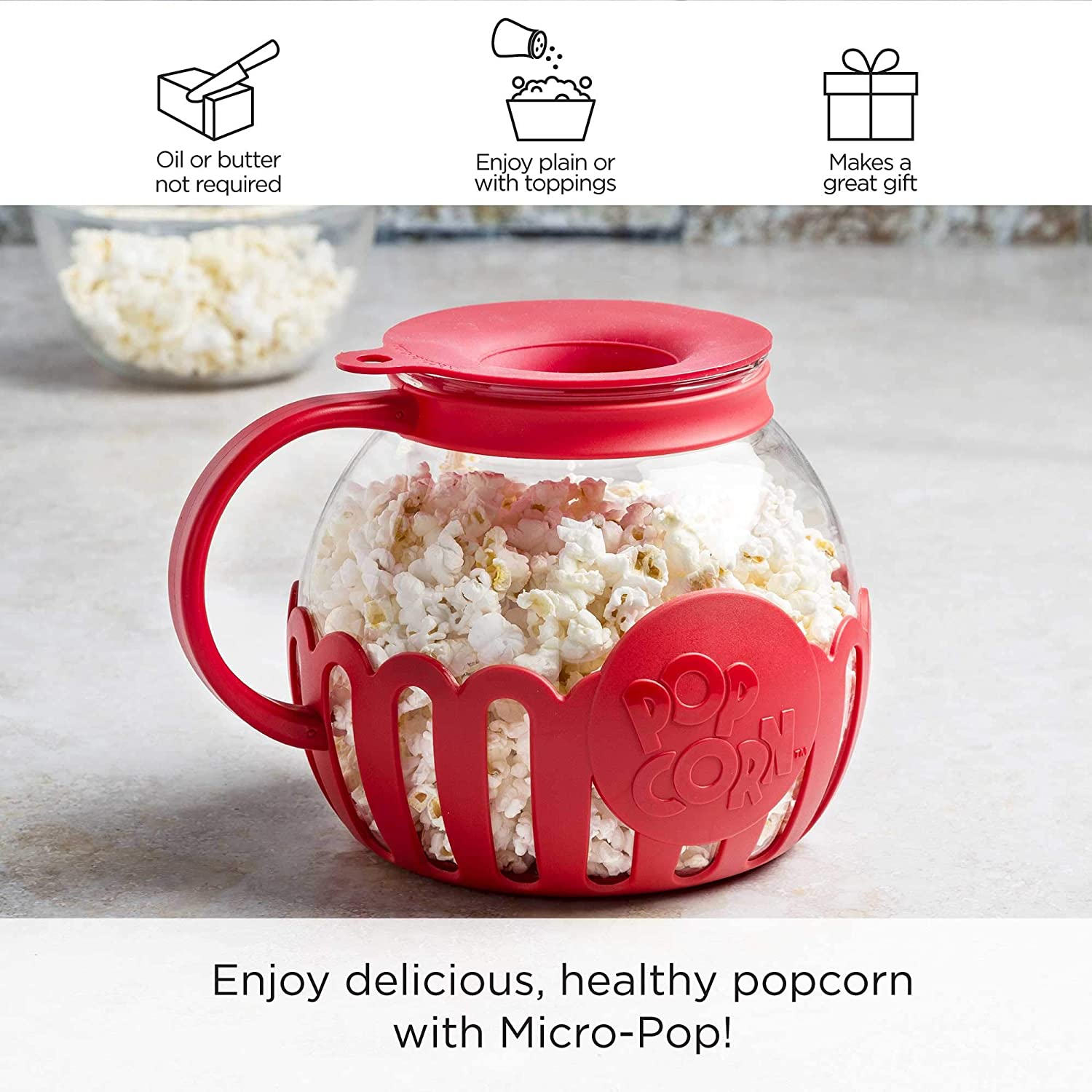 microwave micro pop popcorn popper from ecolution store