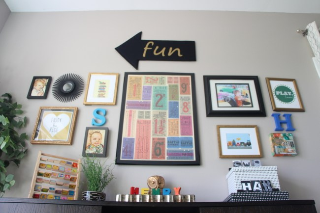 playroom gallery wall | This is our BLiss