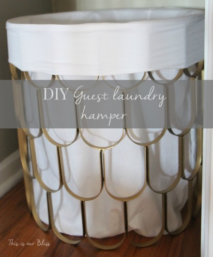 DIY Guest laundry hamper - linen closet details - linen closet makoever - This is our Bliss