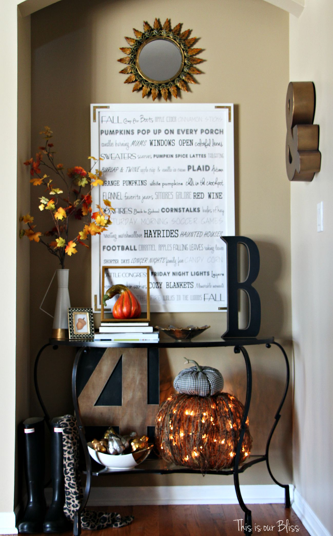 A Fall Entryway - This is our Bliss