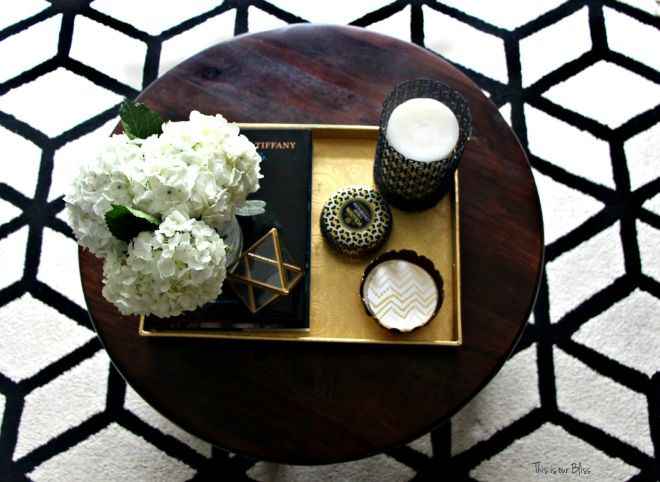 How to style a coffee table - coffee table styling - elements of a well-styled coffee table - Back to Basics 1 - This is our Bliss