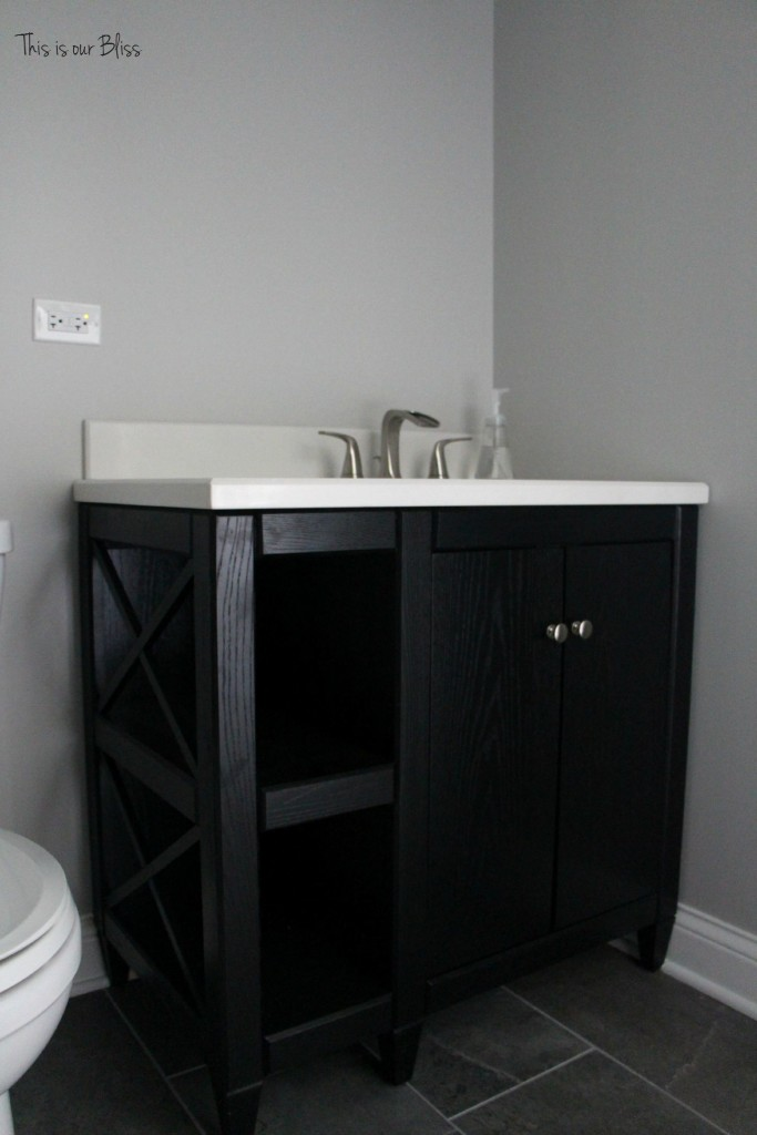 TIOB basement project - basement bathroom - vanity - This is our Bliss