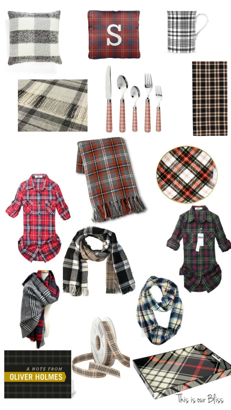 Pattern play pretty plaid fall plaid round up for the home and closet This is our Bliss