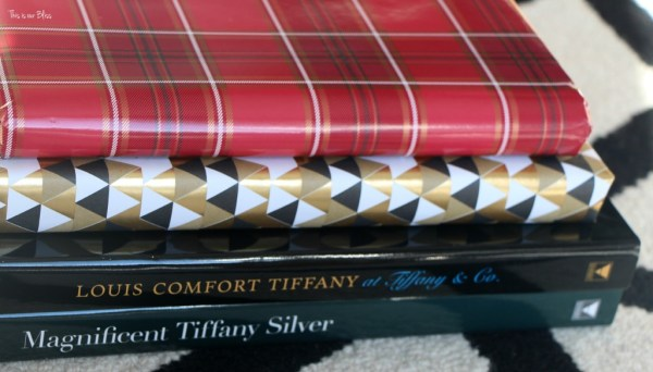 easy christmas decorating - wrapped coffee table books - This is our Bliss