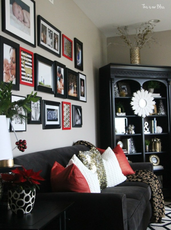 12 days of christmas tour of homes - christmas decor- holiday gallery wall - formal living room christmas decor - This is our Bliss
