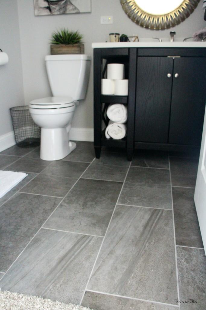 How to create a neutral glam bathroom for Floor and decor porcelain tile