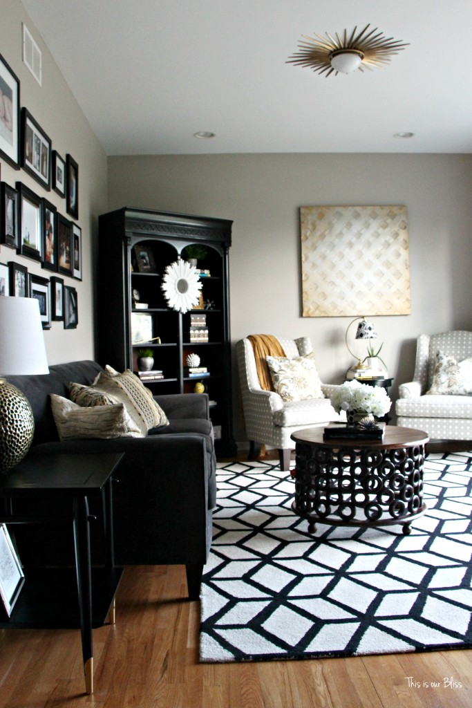 Where to buy bold black and white rugs Black white gold living room