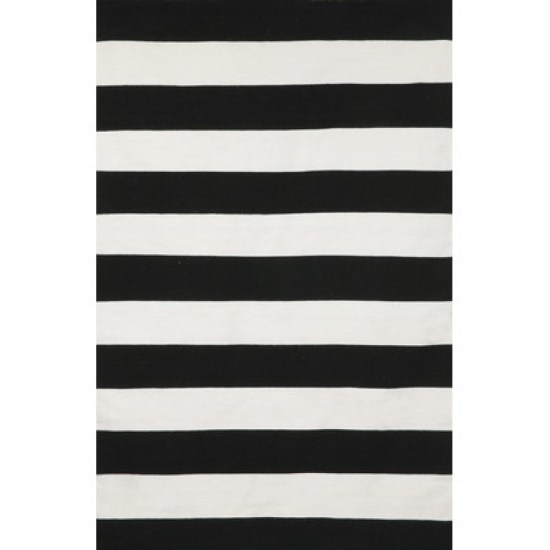 Liora-Manne-Sorrento-Rugby-Stripe-Black-Ivory-Indoor-Outdoor-Area-Rug-SRN - This is our Bliss