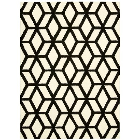 Nourison-Linear-Ivory-and-Black-Rug 1 - This is our Bliss