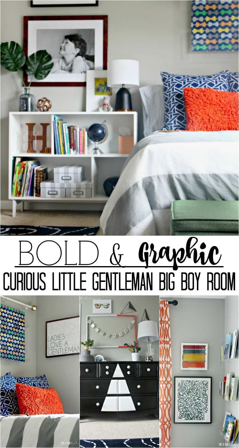 Bold and Graphic Big Boy Room with lots of color, pattern and texture   Curious little gentleman's digs!   This is our Bliss   www.thisisourbliss.com