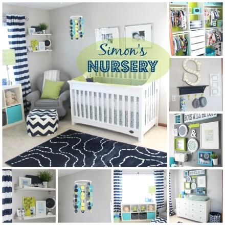 Simon's Nursery Reveal | DIY Nursery | DIY decorations | navy, green & gray - DIY nursery photos & details