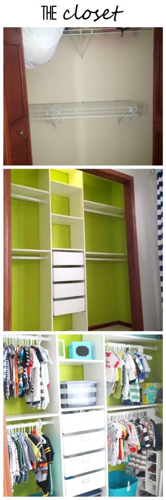 Nursery closet transformation