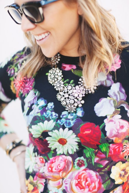 floral sweater - Damsel in Dior