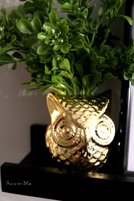 brass owl planter - gold owl - bathroom update - bathroom decor - this is our bliss