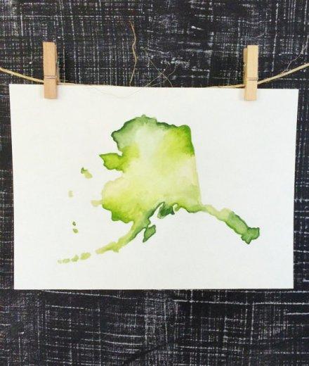 place in progress watercolor art