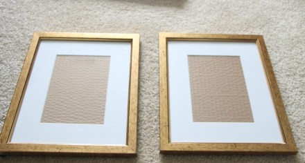 pair of gold goodwill frames - thrifted picture frames - how to thrift frames - This is our Bliss