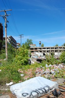 This was once the Packard Plant. There are rumors that it's going to be restored but it doesn't look salvageable.