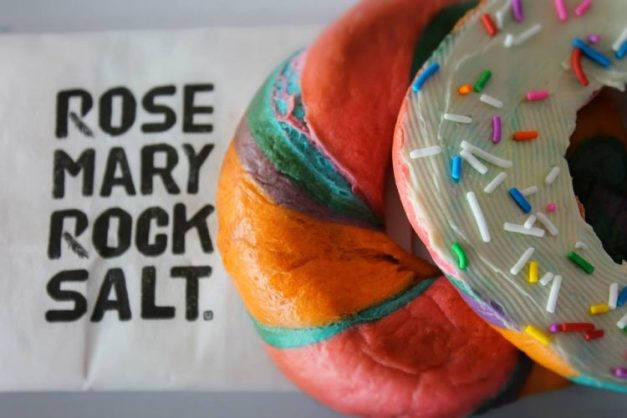 Rainbow bagel from Rosemary Rocksalt