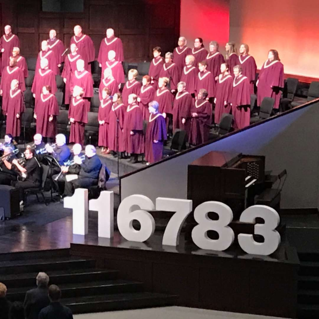 116783 at First Baptist Richardson. Approximate population of Richardson, Texas.