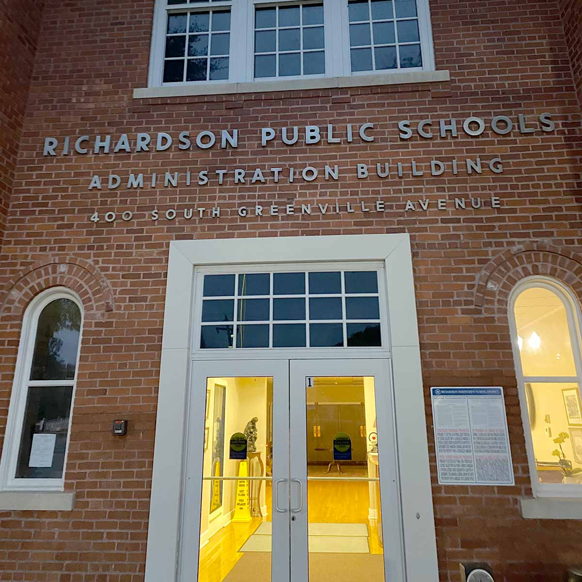 Richardson ISD Administration Building. Jeannie Stone, superintendent. This is Richardson podcast.
