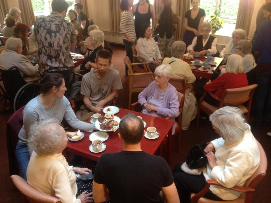 Tea party for older people