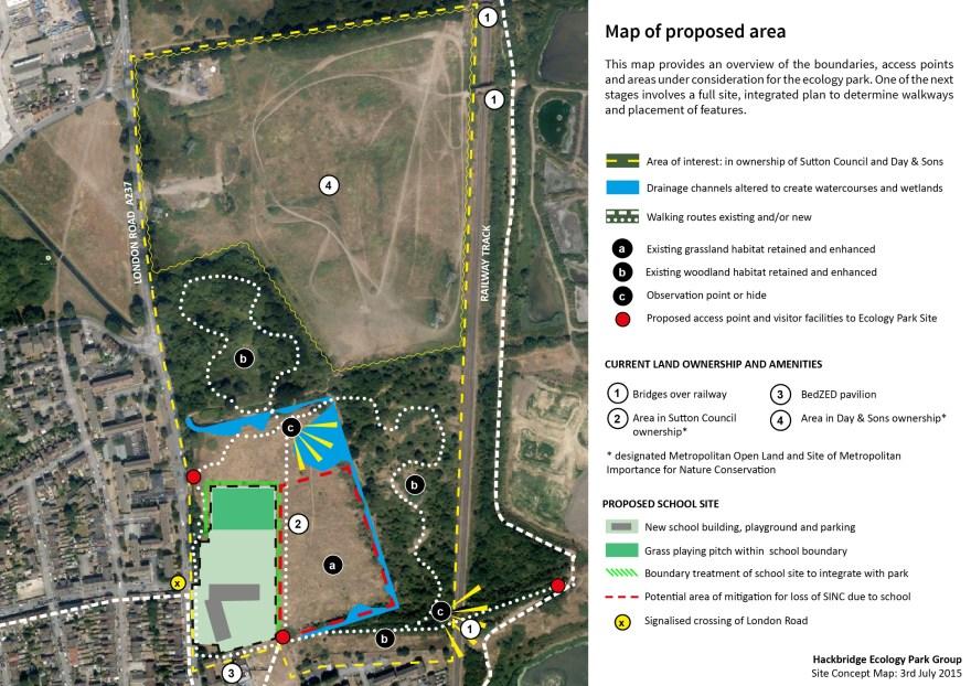 Hackbridge Ecology Park Map