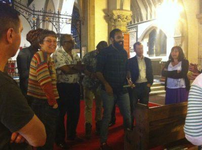 An early meeting in St Nicolas Church, Sutton
