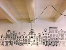 Pretty wall art in a cafe (Amsterdam)