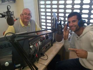 The photo shows Ricky Pow in the Exite Radio studios where he was chatting to Kevin Reardon. Hear the full interview on Exite Radio, 89.2 and 93.1 FM or www.exiteradio.com,  on Tuesday at about 11.30 am.