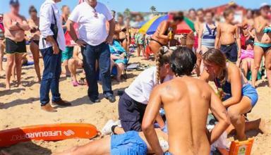 Lifeguards at La Mata