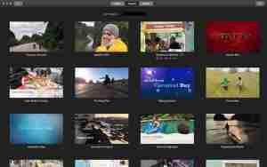 Diferentes temas de iMovie