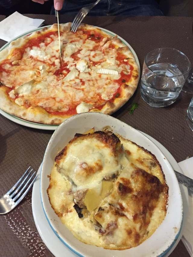 rica comida de Gusto Italia