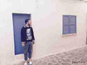 kike en la ciudad amurallada de Ibiza