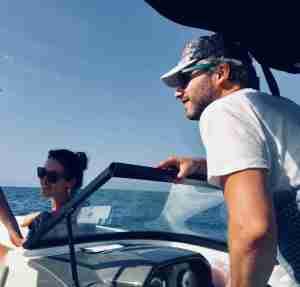 disfrutando del mar