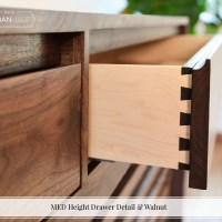 MED Height Drawer Detail & Walnut