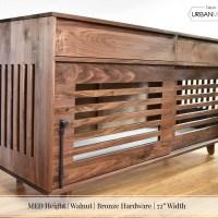 "MED Height | Walnut | Bronze Hardware | 72"" Width_2"