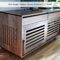 "MED Height | Walnut | Bronze Hardware | 72"" Width_3"